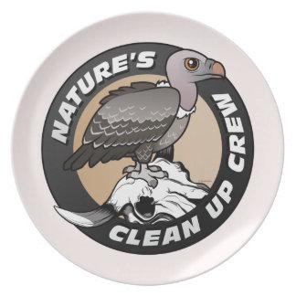 La naturaleza limpia al equipo platos de comidas