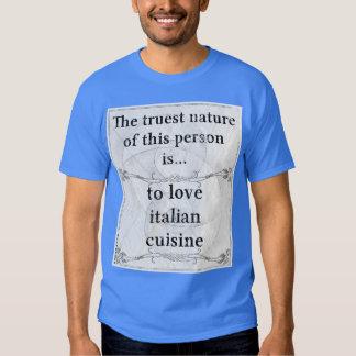La naturaleza más verdadera: cocina del italiano camisas