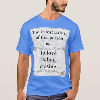 La naturaleza más verdadera: cocina del italiano playera