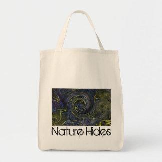 La naturaleza oculta en espirales bolsa tela para la compra