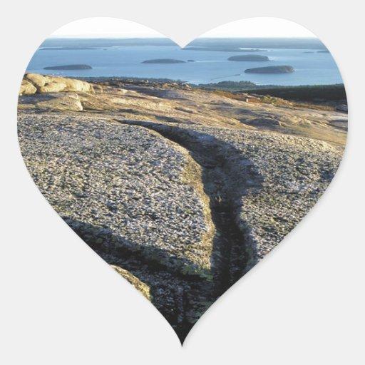 La naturaleza oscila el granito de la superficie calcomania corazon