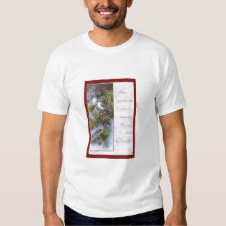 La naturaleza proporciona las cosas naturales en camisas