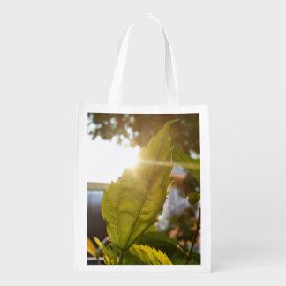 La naturaleza temática, una hoja coge The Sun Bolsas Para La Compra