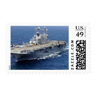 La nave de asalto de carros anfibios USS Peleliu Estampillas