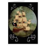 La nave de Blackbeard (venganza de la reina Anne) Tarjeta Pequeña