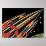 La nave de Rocket de la ciencia ficción del Poster