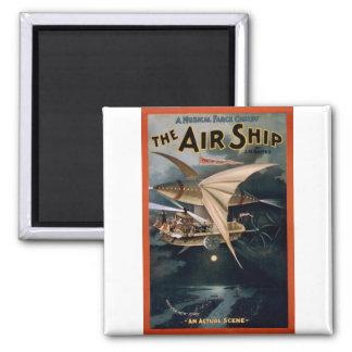 La nave del aire imán cuadrado