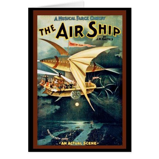 La nave del aire tarjeta de felicitación