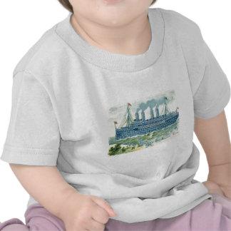 La nave del vapor me olvida no trébol camisetas