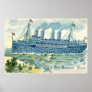 La nave del vapor me olvida no trébol poster