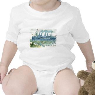 La nave del vapor me olvida no trébol traje de bebé