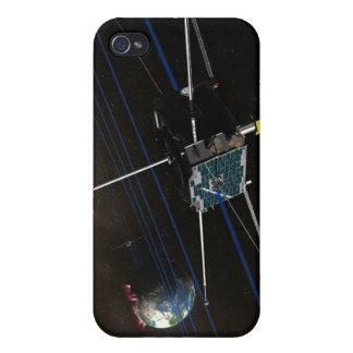 La nave espacial de cinco THEMIS en órbita iPhone 4 Carcasa
