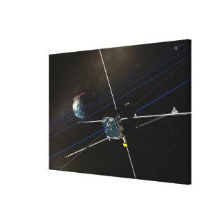 La nave espacial de cinco THEMIS en órbita Impresión En Lienzo Estirada
