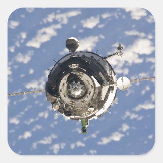 La nave espacial de Soyuz TMA-01M Pegatina Cuadrada