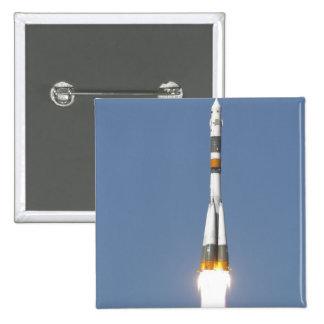 La nave espacial de Soyuz TMA-12 Pin Cuadrada 5 Cm