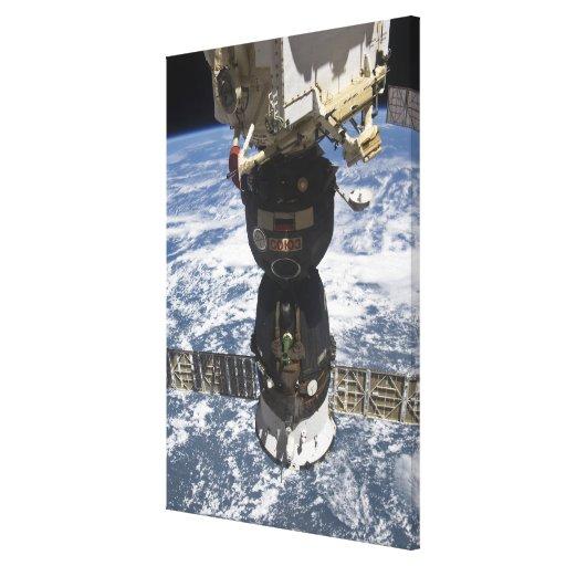 La nave espacial de Soyuz TMA-19 Impresión En Lona