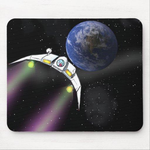 La nave espacial del científico alfombrilla de raton