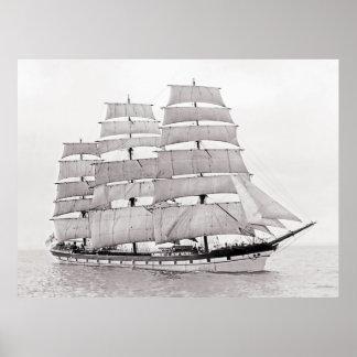 La nave finlandesa Gustavo Erickson Póster