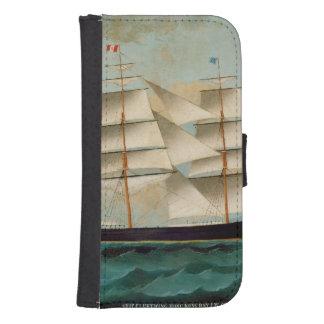 La nave Fleetwing, bahía de Hong Kong Fundas Billetera Para Teléfono