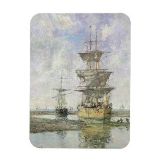 La nave grande, 1879 (aceite en lona) imán de vinilo