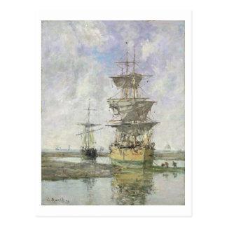 La nave grande, 1879 (aceite en lona) tarjetas postales