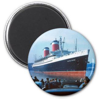 La nave grande imán redondo 5 cm