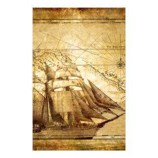 La nave más vieja del mapa del mundo personalized stationery