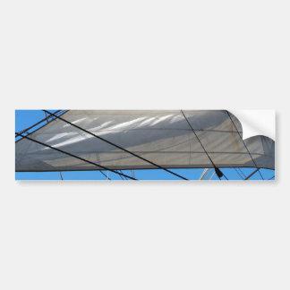 La nave navega a la pegatina para el parachoques d pegatina de parachoque