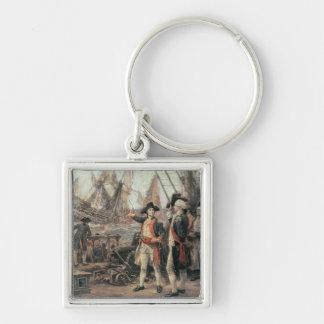 La nave que hundió la victoria, 1779 llavero cuadrado plateado