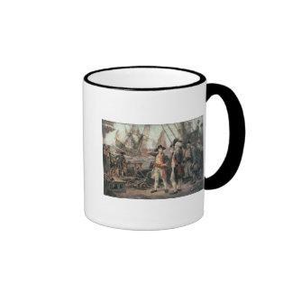 La nave que hundió la victoria, 1779 taza de dos colores