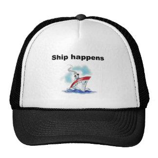 La nave sucede gorros bordados