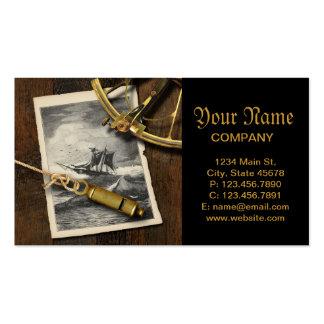 La navegación antigua de la nave equipa náutico tarjetas de visita