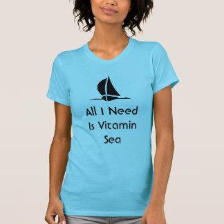 La navegación de toda lo que necesito es mar de la playera