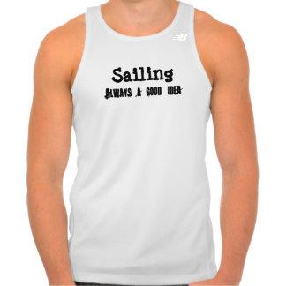 la navegación es una buena idea playera de tirantes deportiva new balance