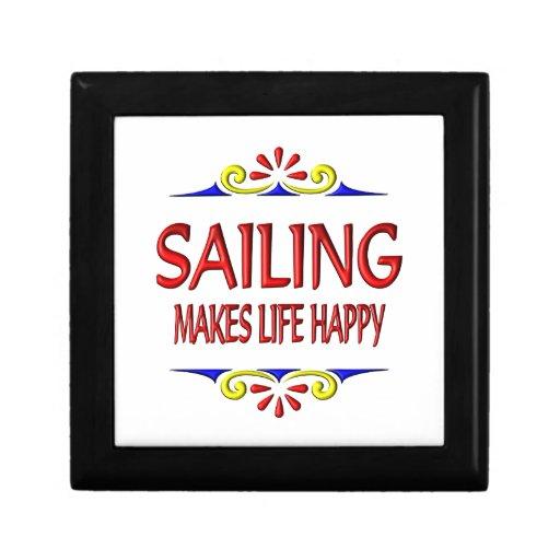 La navegación hace vida feliz cajas de joyas