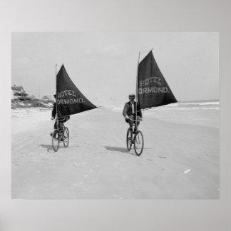 La navegación monta en bicicleta 1903 póster