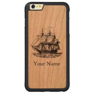 La navegación náutica del vintage personalizó la funda de cerezo bumper carved® para iPhone 6 plus