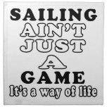 La navegación no es apenas un juego que es una man servilletas imprimidas