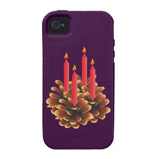 La navidad adviento candela christmas candles iPhone 4 carcasas