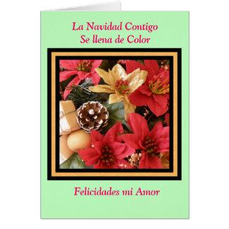 La Navidad contigo se llena de color Card