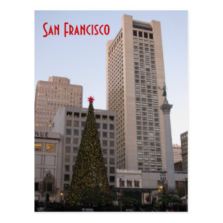La Navidad cuadrada San Francisco de la unión Tarjeta Postal