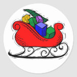 La Navidad de Etiquetas engomadas del diseño de Etiqueta Redonda