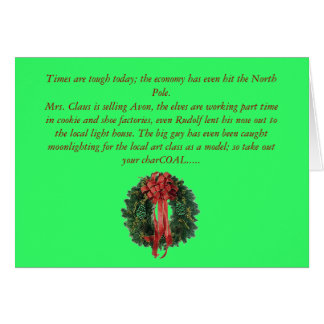 la navidad-guirnalda, épocas es dura hoy; la EC… Tarjeta De Felicitación