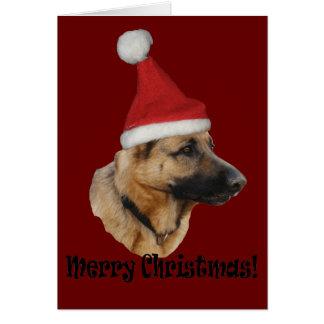"La navidad ""perro pastor "" tarjetón"