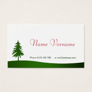 La navidad tarjeta de negocios