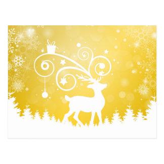 La navidad tarjeta reno decoración tarjetas postales
