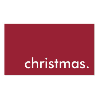 la Navidad Tarjetas De Visita