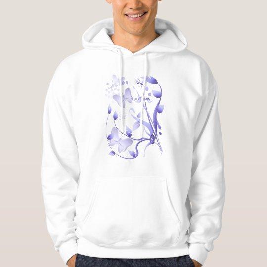 La neblina púrpura cultiva un huerto camisa