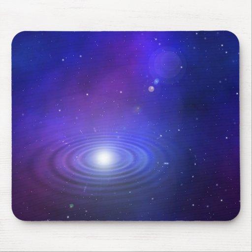 la nebulosa azul ondula la luz alfombrilla de raton