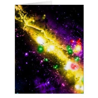 La nebulosa colorida del espacio de la galaxia tarjeta de felicitación grande